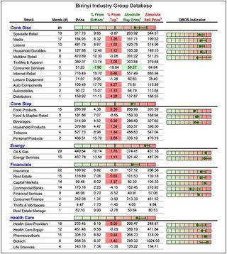 Birinyi Industry Group Database 20101020